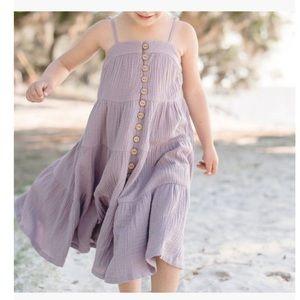 Lilac Gauze Maxi Dress Size 12 NWT